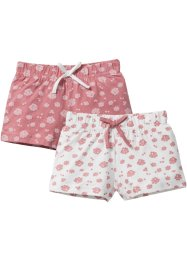 Jersey Shorts (2er-Pack), bpc bonprix collection, rauchrose