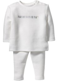 Baby Sweatshirt + Sweathose mit Struktur (2-tlg. Set), bpc bonprix collection