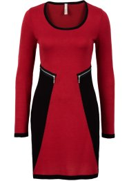 Strickkleid, BODYFLIRT boutique, schwarz/rot