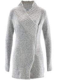 Boucle-Strickjacke, bpc bonprix collection, wollweiß