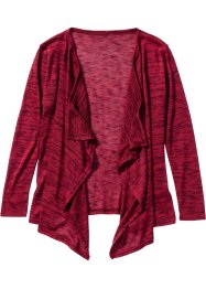 Wickelcardigan, bpc bonprix collection, bordeaux/schwarz meliert