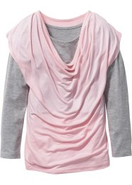 Layershirt langarm mit Wasserfallkragen, bpc bonprix collection