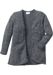 Strickcardigan, bpc bonprix collection, anthrazit meliert/wollweiß meliert