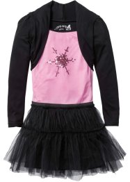 Partykleid, bpc bonprix collection, schwarz/rosa