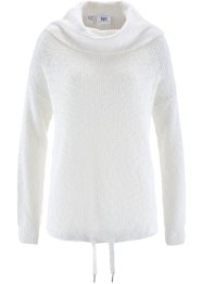Pullover mit Kordelzug, bpc bonprix collection, wollweiß