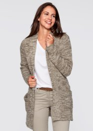 Strickjacke, bpc bonprix collection, wollweiß meliert