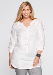 Leichte Flanell-Bluse, bpc bonprix collection, wollweiß