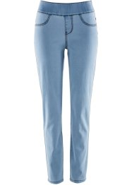 Superstretch-Schlupfjeans in schmaler Form, bpc bonprix collection, blue bleached