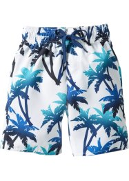 Badeshorts Jungen, bpc bonprix collection, blau/weiß
