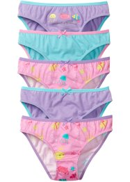 Slip (5er-Pack), bpc bonprix collection, rosa bedruckt/flieder/aqua