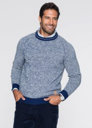 Pullover Regular Fit, bpc bonprix collection, blau meliert