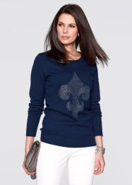 Pullover mit Lilien-Schmucksteinapplikation, bpc selection
