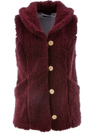 Teddy-Fleece-Weste, bpc bonprix collection, ahornrot
