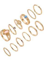 12-tlg. Ringset, bpc bonprix collection, goldfarben