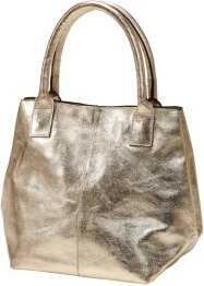 Lederhandtasche Metallic, bpc bonprix collection, gold metallic