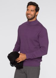 Stehkragenpullover Regular Fit, bpc selection, grau meliert