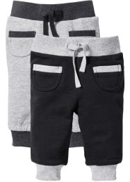 Baby-Sweathose (2er-Pack) Bio-Baumwolle, bpc bonprix collection