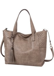 Shopper mit Steppdetail und Troddel, bpc bonprix collection