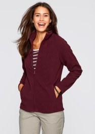 Basic Fleece-Jacke, bpc bonprix collection, ahornrot