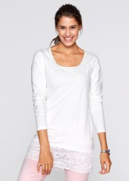Langärmliges Longshirt, bpc bonprix collection, atlantikblau