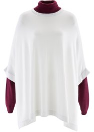 Poncho-Pullover, bpc bonprix collection, wollweiß