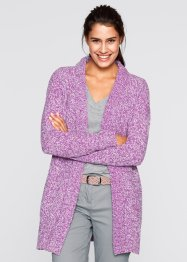 Bouclé-Strick-Jacke, bpc bonprix collection, mattbrombeer meliert