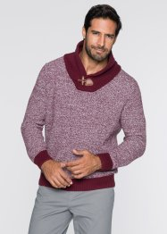 Pullover mit Schalkragen Regular Fit, bpc bonprix collection, ahornrot