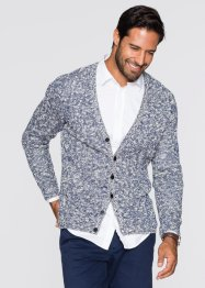 Strickjacke Regular Fit, bpc bonprix collection, mitternachtsblau gemustert
