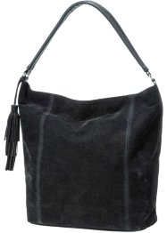 Handtasche Wildlederimitat, bpc bonprix collection, schwarz