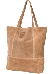 Ledershopper, bpc bonprix collection, hellbraun