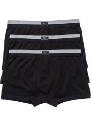 Boxer (3er-Pack), bpc bonprix collection, schwarz/mattsilber