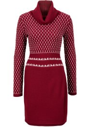 Strickkleid, BODYFLIRT boutique, rot/cremeweiss