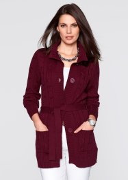Long-Strickjacke mit Zopfmuster, bpc selection
