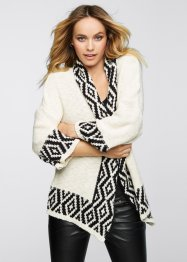 Strickjacke, BODYFLIRT boutique, creme/schwarz