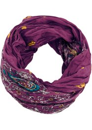 Loop-Schal mit Paisley, bpc bonprix collection, beere
