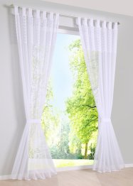 Transparente Gardine mit Spitze (2-tlg.Set), bpc living bonprix collection