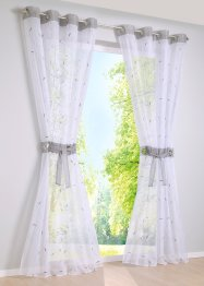 Transparente Gardine mit Stickerei (2-tlg.Set), bpc living bonprix collection