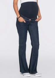 Umstandsjeans mit weitem Bein, bpc bonprix collection, dark denim