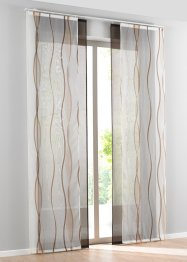 Transparente Schiebegardine mit Wellen Druck (2-tlg. Set), bpc living bonprix collection