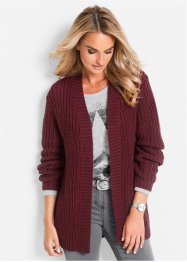 Strickjacke, bpc selection, hellgrau meliert