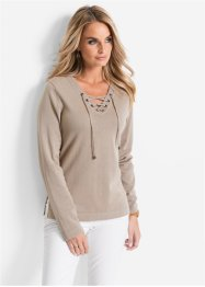 Pullover, bpc selection, beige meliert