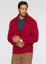 Strickjacke Regular Fit, bpc selection, dunkelrot meliert