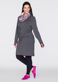Sweatkleid, bpc bonprix collection, schiefergrau