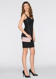 Satin Clutch in Flechtoptik, bpc bonprix collection, rosa