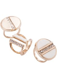 3tlg. Ringset nude, bpc bonprix collection