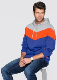 Sweatshirt mit Kapuze Regular Fit, RAINBOW, hellgrau meliert/orange/lila