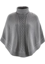 Poncho, bpc bonprix collection, hellgrau meliert
