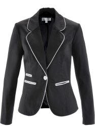 Stretchblazer, bpc selection, schwarz/weiß