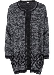 Strickjacke, BODYFLIRT boutique, schwarz meliert