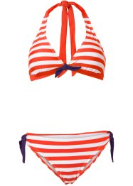 Bikini (2-tlg. Set), bpc bonprix collection, rot/weiß